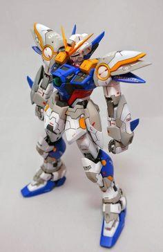 GUNDAM GUY: MG 1/100 Wing Gundam Zero Custom - Customized Build