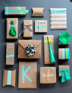 """22 décembre, il y a fort à parier que vous êtes en plein emballage de vos cadeaux de noël. Je vous avais proposé il y a quelques temps un DIY """"air mail gif"""