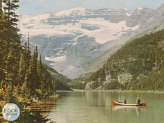 Lake Louise Book plate from Douwe Egberts' 'Canada' by bookIfound, €4.00