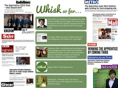 A press release montage of www.whisk.co.uk, collated for your eyes only