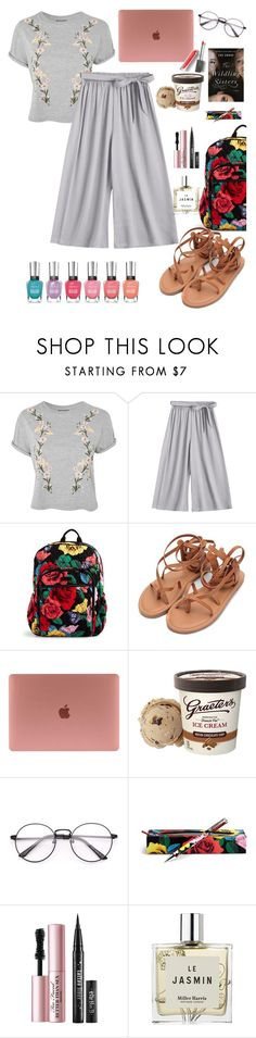 """""""Little pleasures"""" by elliewriter ❤ liked on Polyvore featuring Topshop, Vera Bradley, Too Faced Cosmetics, Miller Harris and Burberry"""