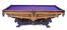 Monarch Pool Table with Side Pockets, Brunswick & Balke Co. | Naples Spring Auction