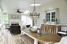Beautiful sun porch! Its looks like someone's actual interior space!