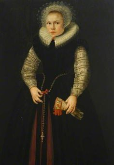 Unknown artist, Portrait of a Girl with a Glove, 1611 - The Bowes Museum