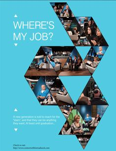 Share this! Youth Unemployment, My Job, Workplace, Typography, At Least, Poster, Letterpress, Letterpress Printing