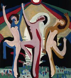 "Ernst Ludwig Kirchner: ""Farbentanz I"", 1930/32, Öl auf Leinwand (© Ingeborg & Dr. Wolfgang Henze-Ketterer, Wichtrach/Bern)"