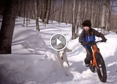 Watch: Fat Biking with Boy's Best Friend