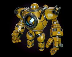 ArtStation - My Blitzcrank, WeiYe Qiu Cool Robots, Robots For Kids, Cool Toys, Robot Factory, Robot Costumes, Steampunk Robots, Retro Robot, What Is An Artist, Robot Concept Art