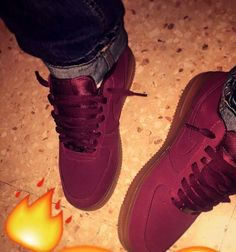 Air Force 1s velvet suede