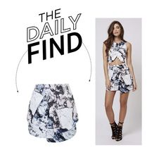 """""""Daily Find: Kendall + Kylie Printed Skirt at Topshop"""" by polyvore-editorial ❤ liked on Polyvore featuring Topshop and DailyFind"""
