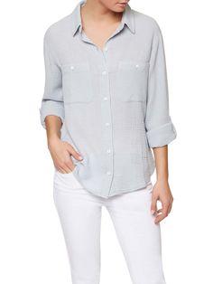 The Steady Boyfriend Shirt - women's button front shirt