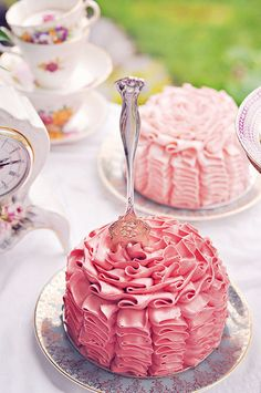 A Mad(ish) Tea Party Ruffle Cakes | Flickr - Photo Sharing!