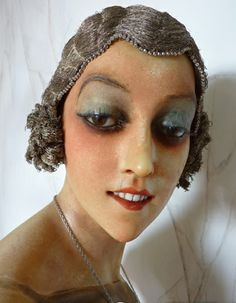 Imans Wax Mannequin bust circa 1928 from antique-gown.com
