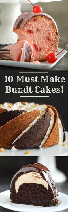CHERRY ALMOND BUNDT CAKE   CHEESECAKE FILLED CHOCOLATE BUNDT CAKE via Handle The Heat   SAMOA BUNDT CAKE via Spicy Southern Kitchen   CINNAMON TOAST CRUNCH BUNDT CAKE via Creme de la Crumb   BLUEBERRY MUFFIN BUNDT CAKE via The Country Cook   ROCKY ROAD BUNDT CAKE via Liv For Cake   ORANGE SPICE CREAM CHEESE BUNDT CAKE via …