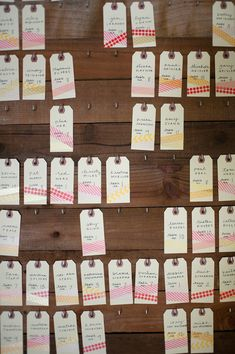 A very washi wedding—how great are these escort cards?