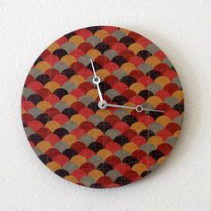 Art Deco Wall Clock Decor and Housewares Home Decor by Shannybeebo, $50.00