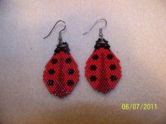 Ladybug beaded earrings