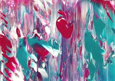 Cherry Blossom Original Wall Art Abstract Acrylic Painting in
