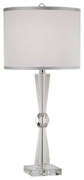 Art Deco Deco Collection Element Crystal Table Lamp - contemporary - table lamps - Lamps Plus