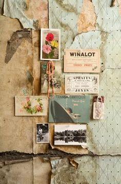 Gorgeous collage and moodboard of found textures and images. Love the vintage feel of this. Pantone Cards, Mode Portfolio Layout, Inspiration Boards, Design Inspiration, Travel Inspiration, Fashion Inspiration, Moodboard Inspiration, Body Inspiration, Design Ideas