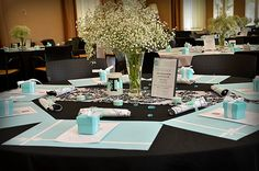 Guest Tables w/ Baby's breath - MLH Treasures Photography