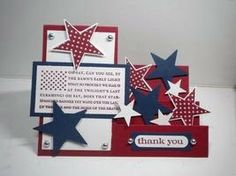 Making Greeting Cards, Greeting Cards Handmade, Making Cards, Fun Fold Cards, Folded Cards, Punch, Side Step Card, Military Cards, Star Cards