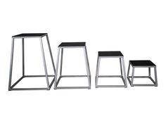 """Crossmaxx Steel plyo box set (12"""" 18"""" 24""""and 30"""")  Description: De Steel plyo box set (12"""" 18"""" 24""""and 30"""") zijn geschikt voor elke functionele ruimte! De set van 4 plyo boxen zijn stapelbaar waardoor ze ruimtebesparend op te bergen zijn. De robuuste boxen hebben een sterk stalen frame en rubberen anti-slip voetjes welke de vloer beschermen en een rubberen anti-slip springvlak. De Steel plyo box set (12"""" 18"""" 24""""and 30"""")is geschikt voor intensief commercieel gebruik. \\n De set bestaat uit de…"""