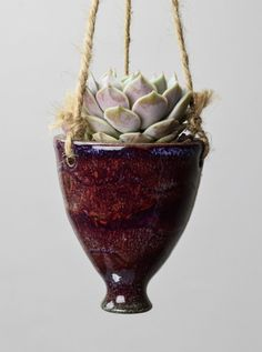 Hanging Ceramic Succulent Planter, Pottery
