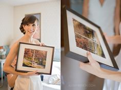Probably the best gift the bride could get. The groom secretly had their proposal photographed and never told the bride until he gave her the photos on their wedding day.