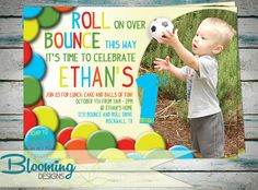 Have a Ball Party Invite with Photo by BloomingDESIGNprints