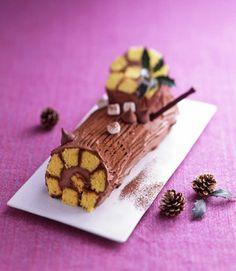 チョコクリームのブッシュドノエル | オ