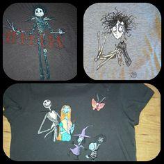 Camiseta de personajes de Burton, una lleva a la otra, la otra a otra...cuánto nos dá de sí Tim Burton.