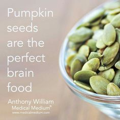 Pumpkin seeds are Brain food