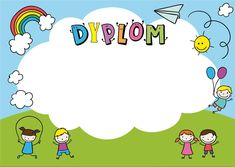 dyplom 3 Kids Boxing, Certificate, Templates, Student, Projects, Fictional Characters, Awesome, Virtual Class, Notebook