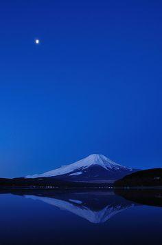 Moonglow, Mt Fuji, Japan.