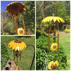 Gourd wind chime Decorative Gourds, Hand Painted Gourds, Sea Crafts, Wood Crafts, Gourds Birdhouse, Jar Art, Creation Deco, Gourd Art, Diy Wind Chimes