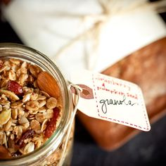 Cranberry and Pumpkin Seed Granola: 50 Pumpkin Recipes for Fall {appetizers, dishes, and desserts using fresh & canned pumpkins} - bystephanielynn