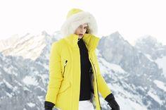 Kichi ski jacket. yellow. GOLDBERGH Luxury Sports