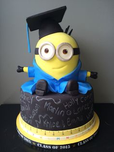 Minion Grad cake I made for my son!