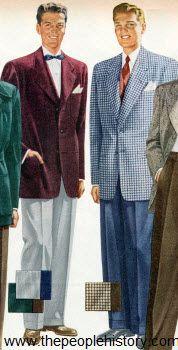 Selection of Twenty 1950s Men's Fashion Clothing with Photos ...