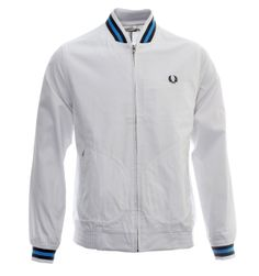 new concept 1b159 bc058 Fred Perry Jackets. Fred perry  Re-Issues  White Tennis Bomber Jacket Tennis