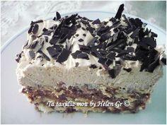 Οι μικρές κυρίες κάνουν θαύματα! Το γλυκάκι αυτό το έμαθα από τη μικρή μου ανιψιά, την Ελίνα, που έχει εξελιχθεί σε μια καταπληκτική οικο... Greek Sweets, Greek Desserts, Cold Desserts, Party Desserts, Greek Recipes, No Bake Desserts, Candy Recipes, Baking Recipes, Dessert Recipes
