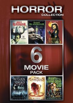 Horror Collection 1: 6 Movie Pack (Return of the Living Dead 3, ROTLD: Necropolis, ROTLD:Rave 2 The Grave, Beyond Re-Animator, Bride of Re-Animator, Night of The Living Dead 3D (2D version)