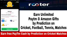(Rooter App ) Earn free PayTm Cash and Amazon gift cards by Prediction on Cricket, Football etc. - YouTube https://youtu.be/92DgIMf4GAY