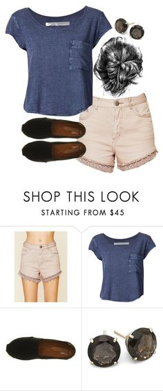 Allison Inspired Summer Moving Outfit by veterization on Polyvore featuring Raquel Allegra, Free People and TOMS