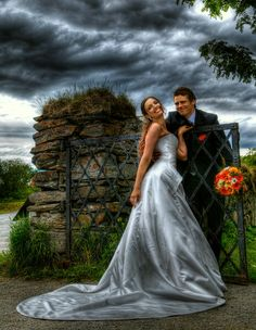 Dramatic wedding
