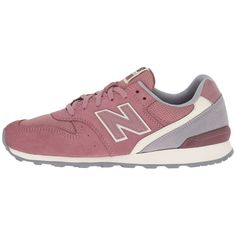 New Balance Classics WL696 (Lush/Steel Suede/Mesh) Women's Classic... found on Polyvore featuring shoes, athletic shoes, sneakers, sport, sport shoes, lace up shoes, mesh athletic shoes, suede shoes and laced up shoes