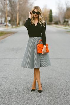 Don't limit your professional outfits to just pants. There are so many stylish ways to rock dresses and skirts while staying polished and professional. Fashion Wear, Work Fashion, Fashion Outfits, Womens Fashion, Fashion Trends, Fall Outfits, Casual Outfits, Professional Outfits, Types Of Fashion Styles