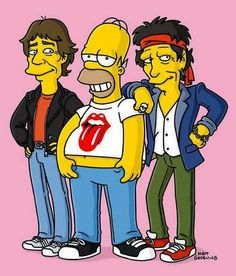 simpson Mick and Keith