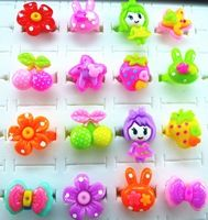 hot sell 50pcs popular high quality cartoon mixed kids rings lovely cute Rings cartoon fashion Jewelry Jewellery